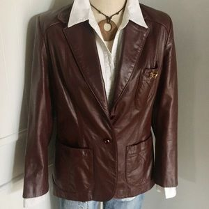 Leather Blazer by Aigner